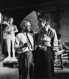 Lee Miller and Picasso after the liberation of Paris, by Lee Miller, Paris, 1944.