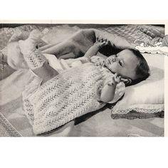Mother Baby Bed Jacket Socks Set Knitting Pattern