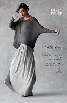 Eileen Fisher grey skirt
