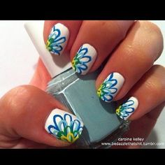 Lotus nail design. Maybe one on each big toe.