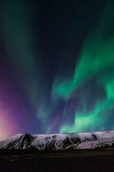 Aurora Borealis - Iceland.  I've always wanted to see Northern lights, but I'd hate to make the trip out there and miss them!! :( Need to go on the spur of the moment when them seem highly active!