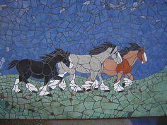 Draft horse mosaic