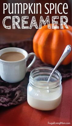 """This is the real thing, no artificial ingredients. Pumpkin, spice and cream, all blended together and """"yummified"""". Easy Homemade Pumpkin spice creamer recipe"""