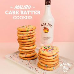 1 Package White Cake Mix ¼ Cup Malibu Rum 2 Eggs ¼ Cup Vegetable Oil 1 1/2 Tsp Baking Powder 1 Tsp Coconut Extract 1 Cup Colorful Sprinkles