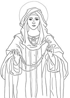 St anne coloring page coloriage religieux pinterest for St rose of lima coloring page