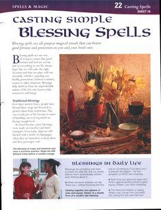 Casting Simple Blessing Spells