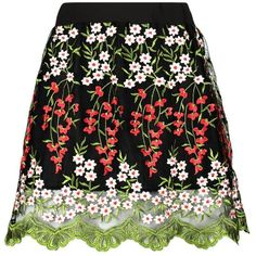 Boohoo Boutique Napa Embroidered A Line Skirt (€31) ❤ liked on Polyvore featuring skirts, maxi skirts, embroidered skirt, midi circle skirt, pleated circle skirt and maxi circle skirt