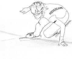 short-track Jorien ter Mors kleurplaat Decoration, Olympics, Track, School, Winter, Sports, Art, Winter Time, Decorating