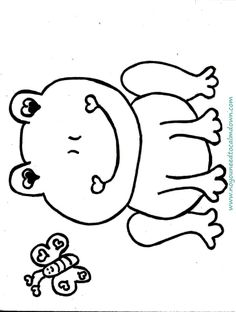 Cute Frog Valentines Day Coloring Page