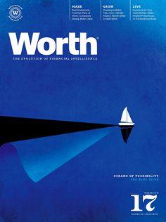 Worth magazine coverIllustration: Brian Stauffer #design #graphicdesign #cover