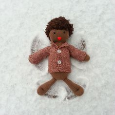 #tbt To that time when we had our first snow of the season. We delighted in watching the giant snowflakes magically fall from the sky and the #IndigoMuseFriends made wee angels...Now don't snow ever again, k? #IndigoMuseDesigns #lifeisbetterwithafriend #toys #dolls #kids #cute #softies #stuffies #plushies #handmade #comingsoon #bhavanashaktifriends #twee #multicultural #genderneutraltoys #handknit #knitting #junipermoonfarmyarn #6weeksofsofties