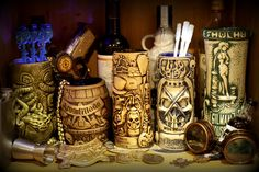 Horror In Clay - fine horror, tiki, and SciFi themed barware & accessories, including the Horror In Clay cthuhu tiki mug and gifts.