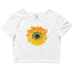 Sunflower Crop Top Sunflower Shirt Women's Sunflower Tshirt Festival... ($25) ❤ liked on Polyvore featuring tops, black, crop tops, women's clothing, form fitting tops, sunflower shirt, form fitting shirts, cut-out crop tops and tight fitting shirts