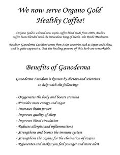 Organo Gold The Gourmet Healthy Coffee http://gourmetcoffeealternative.com