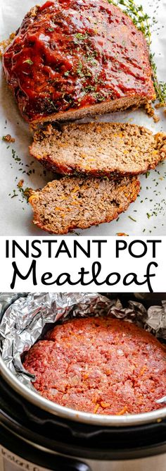 When you need real comfort food with minimal kitchen time, this Instant Pot Meatloaf is just what you've been looking for. Topped with a classic ketchup sauce, this all-American comfort food cooks up easily and quickly in the Instant Pot! #instantpot #comfortfood #meatloaf Instant Pot Pressure Cooker, Pressure Cooker Recipes, Pressure Cooking, Slow Cooker, Vegan Kitchen, Kitchen Recipes, Meatloaf Recipes, Crockpot Recipes, Vegan Recipes