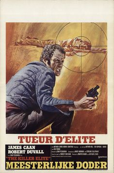 "The Killer Elite 1975 Authentic 14.25"" x 21.5"" Original Movie Poster Fine, Very Good James Caan Thriller Belgian"