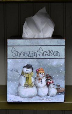 Tissue Box Cover by RuthLorentzen on Etsy
