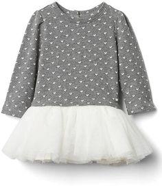 Heart jacquard tutu dress