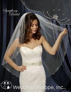 Love this veil and dress!  Symphony Bridal Veils 6209VL