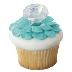 great way to reveal your wedding colors at your bridal shower (flower petals or just something blue).