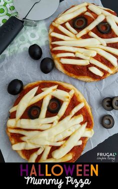 This Halloween Mummy Pizza is the perfect kids food craft for kids. It makes a…