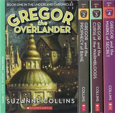 Gregor the Overlander by Suzanne Collins. There are 5. Everyone should read these! I love them!