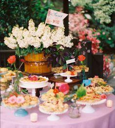 """Dessert table idea. """"Sweet as pie"""""""