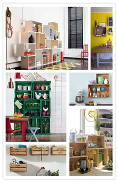 cajas, cajones, boxes, boîtes
