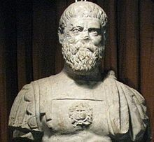 Pertinax (Latin: Publius Helvius Pertinax Augustus - 1 August 126 – 28 March 193), was Roman Emperor for three months in 193. He is known as the first emperor of the tumultuous Year of the Five Emperors. A high ranking military and Senatorial figure, he tried to restore discipline in the Praetorian Guards, whereupon they rebelled and killed him. Upon his death he was succeeded by Didius Julianus, whose reign was similarly short.