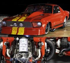 Jason Enos 1967 Ford Mustang  Proline Racing Engines 670ci With Twin Precision Pro-Mod 94mm Turbo's