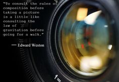 Tuesday is now quote day! Here's one from Edward Weston, and his thoughts on composition. Not everyone agrees with this style, but at the end of the day, that's all this comes down to: style. #photography #inspiration