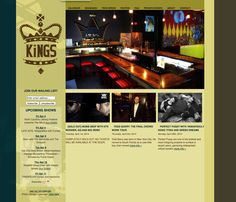 Kings Barcade web design, navigation strategy, site calendar functionality and feature post development, site edit-ability by Designbox #designboxbrand #designboxweb #designboxmusic #kingsbarcade www.kingsbarcade.com
