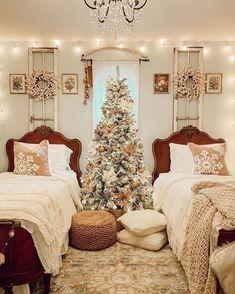 Christmas Bedroom, Christmas Home, Christmas Countdown, Winter Bedroom Decor, Merry Christmas, Southern Christmas, Decoration Christmas, Holiday Decor, Cheap Home Decor