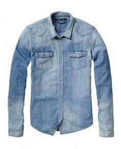 Western Shirt - 6 Oz. Japanese Denim - Shirts - Official Scotch & Soda Online Fashion & Apparel Shops
