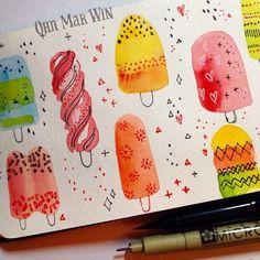 watercolor practice in sketchbook