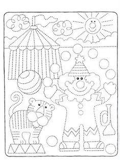 ...Το Νηπιαγωγείο μ' αρέσει πιο πολύ.: Κλόουν με χαρτοσακούλα, ποιήματα, τραγούδια και άλλα... Preschool Worksheets, Preschool Learning, Kindergarten Activities, Preschool Activities, Preschool Circus, Circus Crafts, Pre Writing, Writing Skills, Colouring Pages