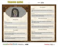 Trading Card App Examples  School Ipad Resources