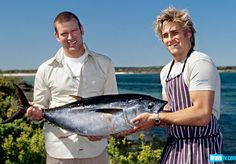 Curtis Stone and fellow chef Ben O'Donoghue traveling Australia, cooking and surfing and meeting people
