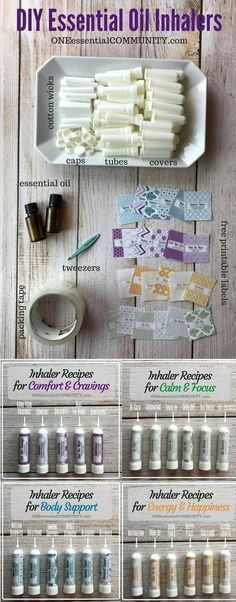 How to make essential oil inhaler plus 24 favorite inhaler recipes for allergies headaches cravings stress energy focus calming and more! And I LOVE the FREE printable labels! Making Essential Oils, Essential Oil Uses, Essential Oil Holder, Young Living Oils, Young Living Essential Oils, Young Living Allergies, Essential Oil Inhaler, Living Essentials, Printable Labels