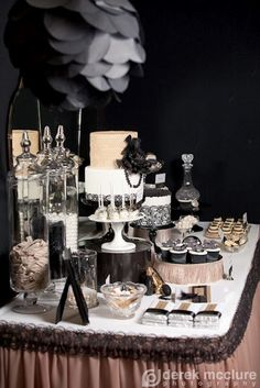 Party Inspirations: The Great Gatsby Themed Dessert Table #candigardenparty