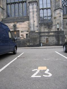 """Here lies John Knox, beneath parking space 23 next to St. Giles, Edinburgh. I assume that many """"weak, frail, impatient, feeble, and foolish"""" women (his words) have parked atop him over the years."""