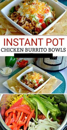 Pot Shredded Chicken Burrito Bowls - Easy Instant Pot Chicken Burrito Bowls for a quick dinner that everyone will love. -Instant Pot Shredded Chicken Burrito Bowls - Easy Instant Pot Chicken Burrito Bowls for a quick dinner that everyone will love. Healthy Recipes, Crockpot Recipes, Cooking Recipes, Freezer Recipes, Freezer Cooking, Instapot Recipes Chicken, Healthy Pressure Cooker Recipes, Drink Recipes, Cooking Tips