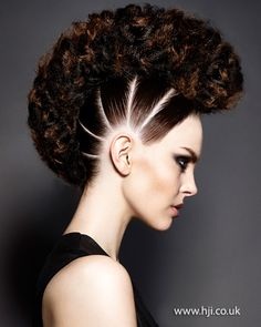 2015 super curled updo with sectioned sides - Hairstyle Gallery