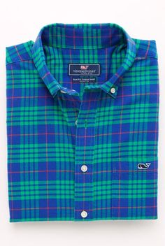 Allwood Plaid Flannel Button-Down Classic-Fit Tucker Shirt for Men by Vineyard Vines
