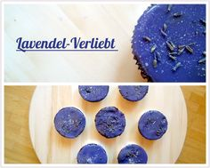 Tassenkuchen - Bäckerei: Brownie Cupcakes mit Lavendel-Glasur
