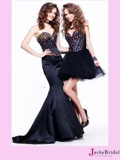 Long Or Short Sweetheart Crystal 2013 Prom Dress
