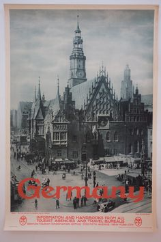 German travel poster Silesia, The Town Hall and St. Elizabeth's Church in Breslau Romantic Vacations, Romantic Getaway, Romantic Travel, Top Vacations, Europe Travel Tips, Travel Abroad, Travel Guide, Travel Destinations, Vintage Architecture