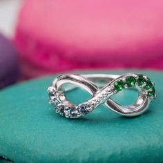 A personalized infinity ring makes the sweetest gift.   How would you customize yours?