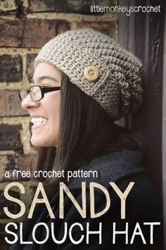 Sandy Slouch Hat & Cowl Set   Free Patterns by Little Monkeys Crochet