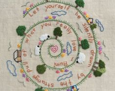 Diy gift Hand embroidery design woodland by NaNeeHandEmbroidery